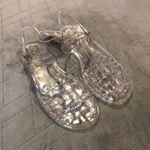 NWT Old Navy Jelly Shoes Clear Sz 5Y
